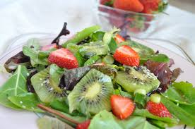 mixed green salad with strawberries.  Strawberries Fresh Strawberry Recipe Kiwi Throughout Mixed Green Salad With Strawberries