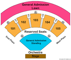 Verizon Wireless Amphitheater At Encore Park Seating Chart
