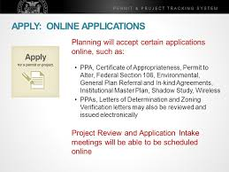 Permit Project Tracking System Historic Preservation Commission