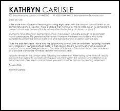Teacher Retirement Letter Example Letter Samples Templates