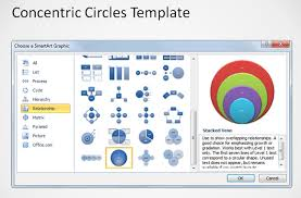 Smart Art Venn Diagram How To Create Concentric Circles In Powerpoint