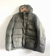 mens carhartt down puffa fill green jacket m l quilted hooded winter coat 250