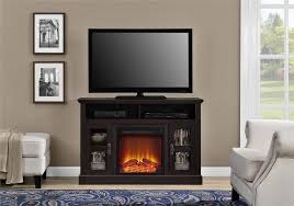 versatile furniture. Full Size Of Interior: Espresso Electric Fireplace Tv Stand With Console And Realistic Versatile Furniture