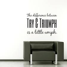 office decals the difference between try tri is a little e wall decal office wall decals office decals office wall