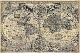 Historic Old World Map <b>vintage</b> map 1626 Old <b>Antique</b> Restoration ...