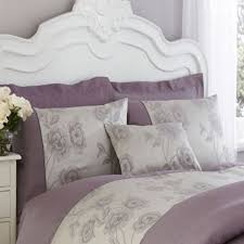 charlotte thomas antonia duvet cover set light purple grey