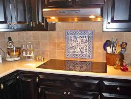 Decorative Kitchen Wall Tiles Blue And White Floral Tile Design Inside Simple