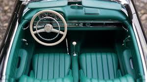 old blue car interior