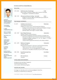 International Cv Template Resumes International 1 Efficient ...