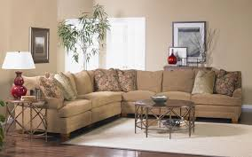 Sectional Sofa with Low Rolled Arms by Sam Moore