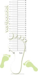 Baby Size Chart Template Kids Shoe Size Chart Printable Ninjaturtletechrepairsco 13