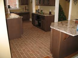 Wood Tile Floor Kitchen Kitchens Inglenook Brick Tiles Thin Brick Flooring Brick