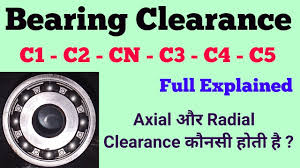 Bearing Clearance C3 Radial Axial Clearance