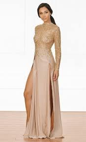 Indie Xo High Drama Beige Gold Glitter Sheer Mesh Long Sleeve Mock