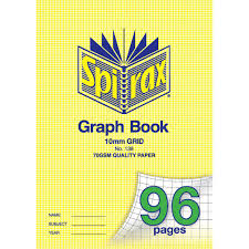 Spirax 138 Graph Book 10mm 96 Page A4 Office National