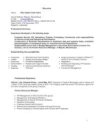 Resume Name: Rute Isabel Costa Vieira Actual Address: Maputo, Mozambique  E-mail ...