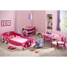 Pink Minnie Mouse Bedroom Decor Delta Children Minnie Mouse Toddler Bed Reviews Wayfair