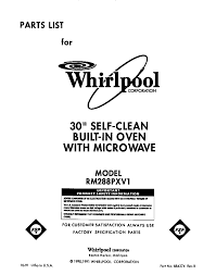 whirlpool rmpxv electric built in oven microwave timer rm288pxv electric built in oven microwave front cover parts diagram
