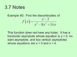 3 7 notes example 2 find the discontinuities of
