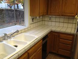 full size of kitchen white tile countertop 3 bowl ceramic sink wooden cabinets glass wall