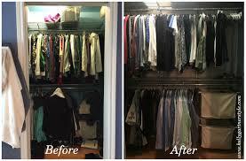 almost empty closet. Organizing-stephanies-closet-before-and-after-pic Almost Empty Closet