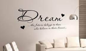 dream the future wall art hearts at de signz