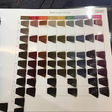 Bright Hair Color Chart Shiseido Hair Dye Colour Chart Www Bedowntowndaytona Com