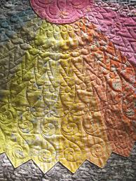 267 best SUNSHINE QUILTS images on Pinterest | Quilt patterns ... & Detail, longarm quilting on a giant Dresden Plate quilt: