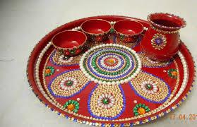 Pooja Ki Thali Design Diwali Plate Decoration Step 5 Sc 1 St Art Platter