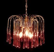 vintage mid century murano 60 s paolo venini teardrop spider glass chandelier