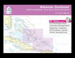 Tide Chart Long Island Bahamas Nv Atlas Bahamas 9 3 Southeast Cat Long Islands Rum Cay To Turks Caicos 2016 17