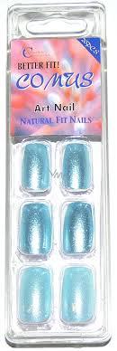 Absolute Cosmetics Comus Art Nail Umělé Nehty Světle Modré 20 Kusů