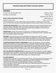 Military Resume Examples Best Of Resume Builder For Veterans New