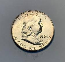 1960 Franklin Half Dollar Liberty Bell Coin Value Prices