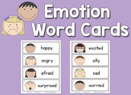 Visual Feelings Chart Emotion Word Cards Prekinders