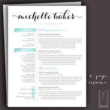 Modern Resume Style Esty Cover Letter Template Etsy Deltabank Info