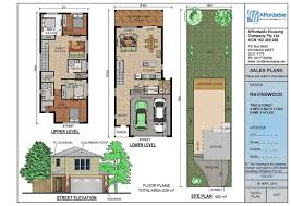 small lot house plans two story brisbane wide frontage floor plans inspirational plan house with two bedroom thepinkpony org