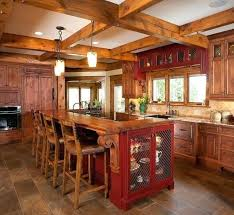 red painted kitchen cabinets rustic red kitchen cabinets rustic log home rustic kitchen rustic red painted