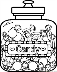 Small Picture Candyjar4bw Coloring Page Free Candy Coloring Pages
