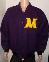 details about minnesota state mankato mavericks letterman jacket xl jostens wool varsity vtg