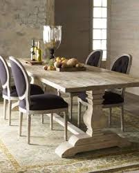 natural dining table black linen chairs horchow
