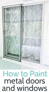 how to paint aluminum windows and door