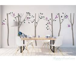 birch tree wall decal on white birch tree wall art with birch tree wall decal white birch wall decal with leaves for