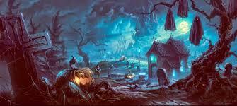 3500x1571 graveyard pumpkin wallpapers hd widescreen jpg