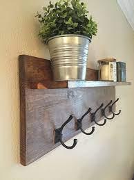 rustic wall mounted coat rack with