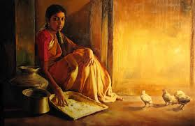 though his paintings reflect the real life where light and shade plays prominent role his realistic