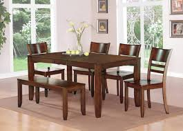 cherry wood dining table. Dining Room Design And Decoration Using Rectangular Cherry Wood Kitchen Tables With Bench Seats Table