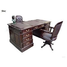 partners desk office writing table 180cm with matching