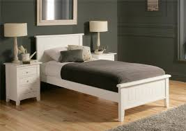 new england solo single bed frame white