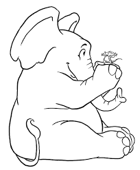 printable coloring page elephant smart free and piggie pages sheets of